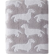 Saturday Knight LTD Dog Jacquard Bath Towel, Gray