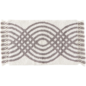 Saturday Knight Fringed Waves 32 x 19.75 in. Rug