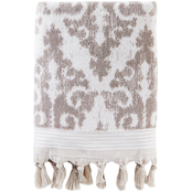 Saturday Knight LTD Mirage Fringe Jacquard Bath Towel, Taupe