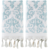 Saturday Knight LTD Mirage Fringe 2 pc. Hand Towel Set, Aqua