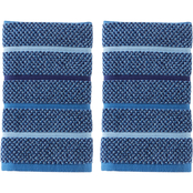 Saturday Knight LTD Kali Stripe Hand 2 pc. Towel Set in Midnight