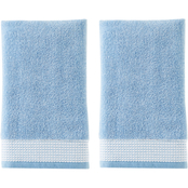 Saturday Knight LTD Kali Jacquard 2 pc. Hand Towel Set, Smoke