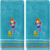 Saturday Knight LTD Monsters 2 pc. Hand Towel in Jade