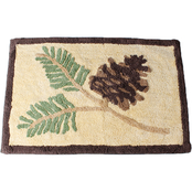 Saturday Knight Pinehaven Cotton Tufted 31 x 20.5 in. Rug