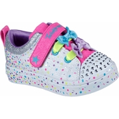 Skechers Toddler Girls Twinkle Toes TwiLites Confetti Princess Shoes