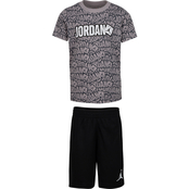 Jordan Little Boys Stickers Tee and Shorts Set