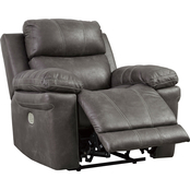 Signature Design by Ashley Erlangen Power Recliner with Adjustable Headrest