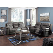 Signature Design by Ashley Erlangen Power Reclining Sofa and Loveseat with Console