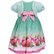 Blueberi Boulevard Infant Girls Clip Dot Shrug Dress Set