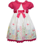 Blueberi Boulevard Infant Girls Wildflowers Shrug Dress Set