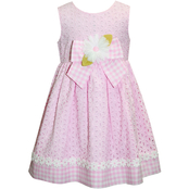 Blueberi Boulevard Infant Girls Eyelet Floral Dress