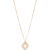 Carol Dauplaise Goldtone Long Triple Ornate Pendant