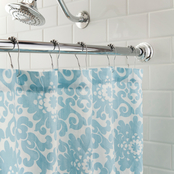 Kenney Twist & Fit No Tools Decorative Tension Shower Curtain Rod