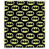 DC Comics Batman Emblem Cozy Sherpa Fleece Throw