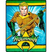 DC Comics Aquaman Hero Faux Fur Blanket