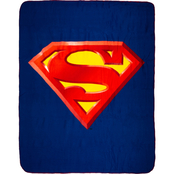 DC Comics Superman Shield Cozy Sherpa Fleece Throw