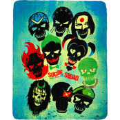 DC Comics Suicide Squad Skulls Cozy Fleece Throw