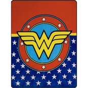 DC Comics Wonder Woman Logo Fleece Throw