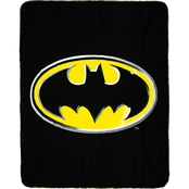 DC Comics Batman Emblem Fleece Throw