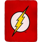 DC Comics The Flash Logo Fleece Throw