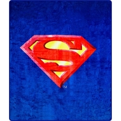 DC Comics Faux Fur Blanket with Superman Shield