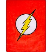 DC Comics The Flash Logo Faux Fur Blanket