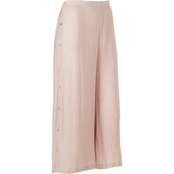 Passports Wide Leg Crop Pants with Side Buttons