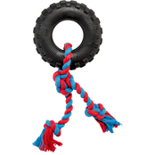 Leaps & Bounds Toss and Tug Tire Rope Dog Toy