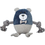 Leaps & Bounds Wildlife Plush and Rope Bear Dog Toy, 6 in.