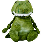 Leaps & Bounds Wildlife Plush Gator Dog Toy