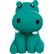 Leaps & Bounds Chomp and Chew Latex Hippo Dog Toy, Small