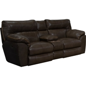 Catnapper Milan Leather Loveseat