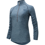 New Balance Transform Half Zip Top Stone Blue