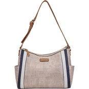 Nautica Side Swiped Hobo Handbag