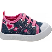 Beverly Hills Polo Club Infant Girls Crib Sneakers