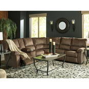 Signature Design by Ashley Urbino Power Reclining Loveseat 3 pc. Sectional