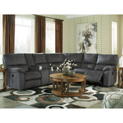 Signature Design by Ashley Urbino Reclining Loveseat 3 pc. Sectional