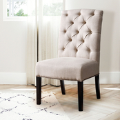 Abbyson Sierra Tufted Linen Dining Chair