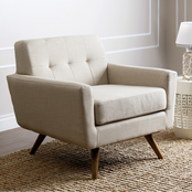 Abbyson Brayden Tufted Fabric Armchair