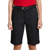 Dickies Little Girls Classic Fit Bermuda Stretch Twill Shorts