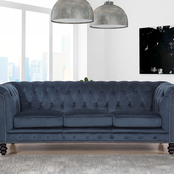 Abbyson Grand Chesterfield Velvet Sofa