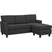 Abbyson Erwin Reversible Fabric Sectional