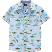 OshKosh B'gosh Little Boys Dinosaur Button Front Shirt