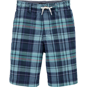 OshKosh B'gosh Little Boys Plaid Pull On Shorts