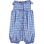 Carter's Infant Girls Floral Gingham Bubble Romper