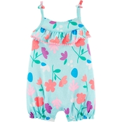 Carter's Infant Girls Floral Tank Jersey Romper