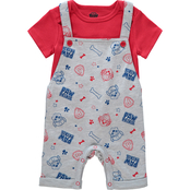 PAW Patrol Infant Boys Shirt and Shortalls 2 pc. Set