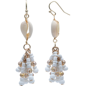 jules b Cowry Shell Tassel Earrings
