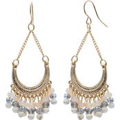jules b Beaded Fringe Earrings