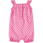 Carter's Infant Girls Butterfly Tank Jersey Romper